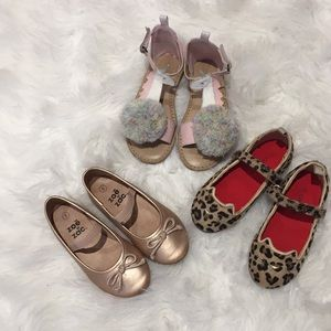 Toddler shoes from Carter old navy and zoe and zac